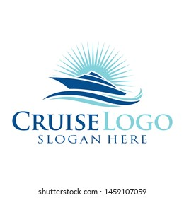 sailing and cruise logo inspiration