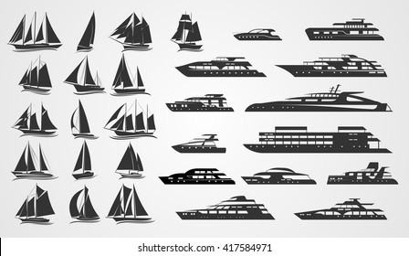 Sailing and motor yachts