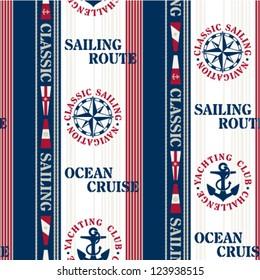 Sailing pattern - Navigation elements seamless pattern