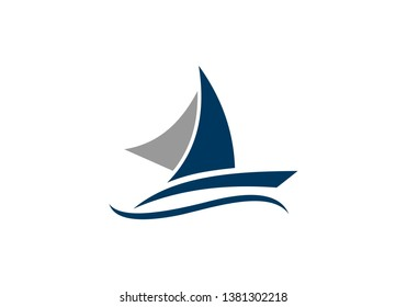 sailing ship, sailing boat, sailboat, sail, ship, clipper logo
