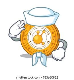 Sailor BitConnect coin character cartoon