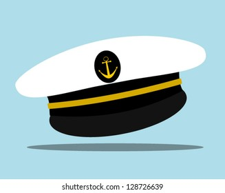 sailor hat with anchor emblem