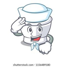 Sailor mortar character cartoon style