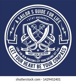 Sailors Guide Badge Logo Design