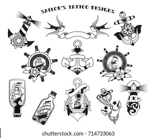Sailor Tattoo Images Stock Photos Vectors Shutterstock