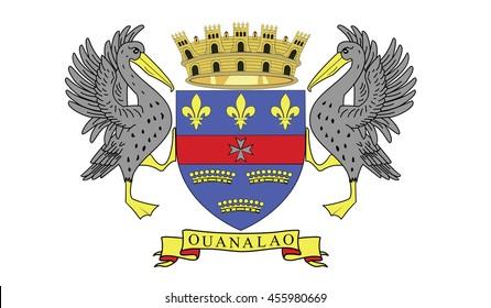 Saint Barthelemy flag - 3D illustration