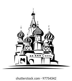 saint basil cathedral vector illustration