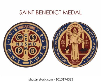 Saint Benedict Medal Colored