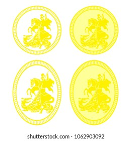 Saint George medal eliptical
