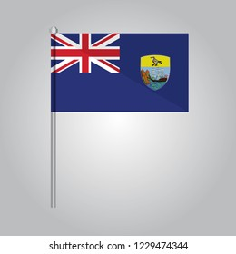 Saint Helena Icon vector illustration,National flag for country of Saint Helena isolated, banner vector illustration. Vector illustration eps10.