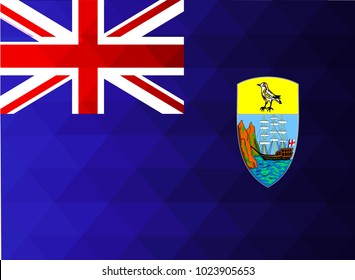 Saint Helena islands Flag vector illustration. Saint Helena islands Flag. National Flag of St Helena islands. Mosaic flag. Vector