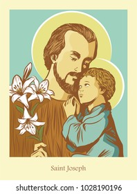 Saint Joseph the husband of Mary