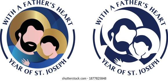 Saint Joseph Logo - Year of St. Joseph - Joseph icon