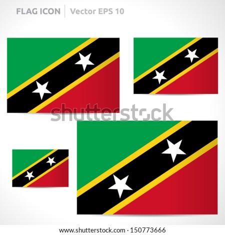 saint kitts nevis flag template vector stock vector royalty free