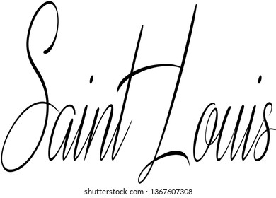 Saint Louis text sign illustration on white background