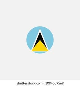 Saint Lucia Circle Flag Vector Illustration