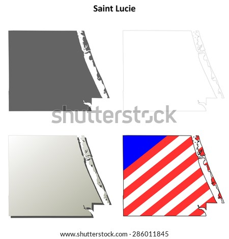 Map Of St Lucie County Florida.Saint Lucie County Florida Outline Map Stock Vector Royalty Free