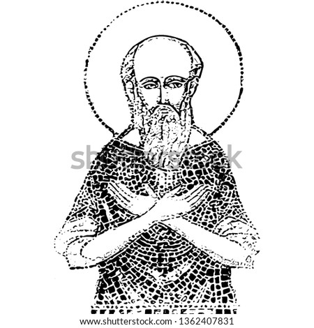Saint Maximus portrait (vector)