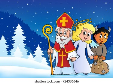 Saint Nicholas Day theme 4 - eps10 vector illustration.