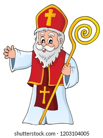 Saint Nicholas topic image 1 - eps10 vector illustration.
