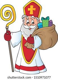Saint Nicholas topic image 4 - eps10 vector illustration.