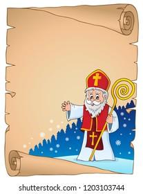 Saint Nicholas topic parchment 2 - eps10 vector illustration.