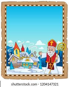 Saint Nicholas topic parchment 4 - eps10 vector illustration.