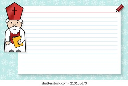 Saint Nicholas's list of kids good behaviour.