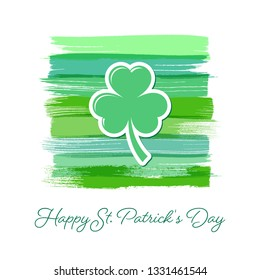 Saint Patrick Day greeting card or poster template