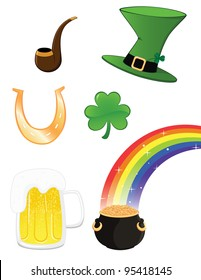 Saint Patrick icon set