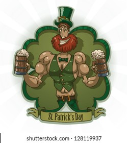 Saint Patrick label 05, vector