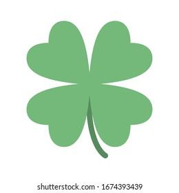 Saint Patrick lucky irish day green clover symbol