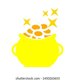 saint patrick money icon. Logo element illustration. saint patrick money symbol design. colored collection. saint patrick money concept. Can be used in web and mobile