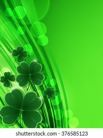 Saint Patricks day background. Clover vector background.