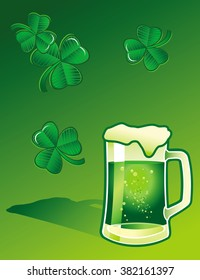 Saint Patricks Day Beer Background