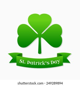 Saint Patrick's day design - Shamrock emblem