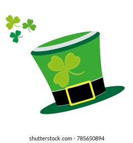 Saint Patrick's Day of hat. Isolated on white background. Vector illustration