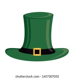 saint patricks day irish tradition leprechaun hat isolated cartoon vector illustration graphic design