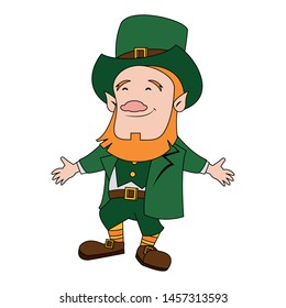 saint patricks day irish tradition green leprechaun smiling cartoon vector illustration graphic design
