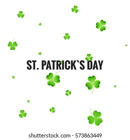 st patricks day shamrock background green stock vector royalty free