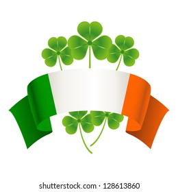 Saint Patrick's Day. Vector holiday concept with Irish national flag.