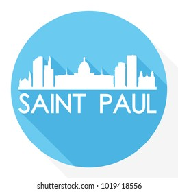 Saint Paul Minnesota USA Flat Icon Skyline Silhouette Design City Vector Art
