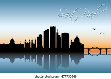 Saint Paul skyline - Minnesota - United States of America - vector illustration