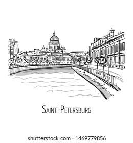 Saint Petersburg, Russia. Sketch for your design