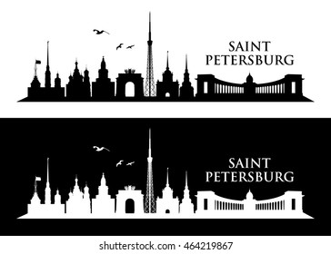 Saint Petersburg skyline - vector illustration