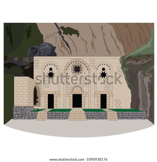 Saint Pierre, Church, vector