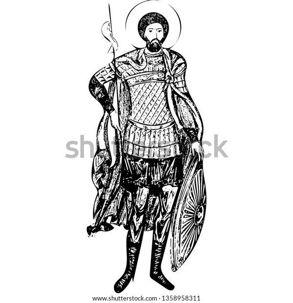 Saint Theodore Stratelates (vector)