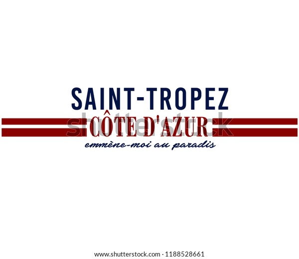 Sainttropez Town On French Riviera Dazuris Stock Vector