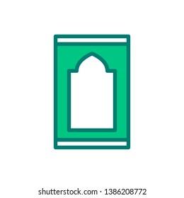 Sajadah carpet icon for muslim pray. Islamic religious. Business Logo.