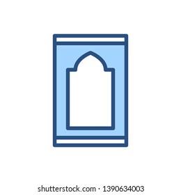 Sajadah carpet icon for muslim pray. Islamic religious. .